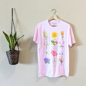 NWOT Chemisty Floral Printed Pink T-Shirt